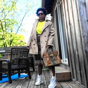 Calvin Klein Trench Coat, Tan, Extra Large
